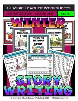 Story Writing-Winter-Grade 1 (1st Grade)-Story Maps and St