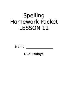 StoryTown 2nd Grade Spelling Lesson 12