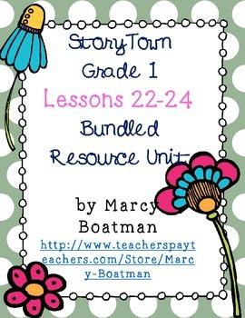 StoryTown Grade 1 Lessons 22-24 Bundled Resource Unit