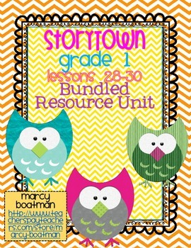 StoryTown Grade 1 Lessons 28-30 Bundled Resource Unit