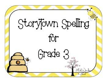 StoryTown Spelling Journal Cards for 3rd Grade