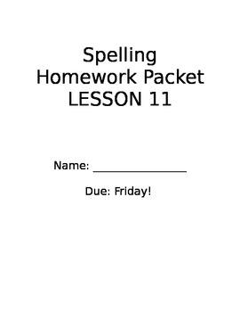 StoryTown Spelling Lesson 11