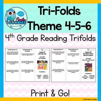 StoryTown Theme 4, 5 & 6- Trifolds (4th Grade)