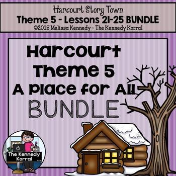 StoryTown Theme 5 - 3rd Grade BUNDLE {Lessons 21, 22, 23, 24, 25}