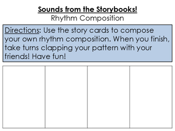Storybook Rhythm Composition Cards - There Was An Old Woma