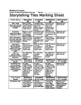 Storytelling Tiles Marking Sheet