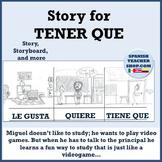 Storytelling of Tener Que