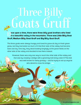 Storytime - Free Fairy Tale Plus Activties - Three Billy G