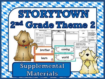 """Storytown 2nd Grade Theme 2 """"Doing Our Best"""" Resources"""