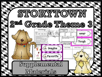 """Storytown 2nd Grade Theme 3 """"Changing Times"""" Resources"""