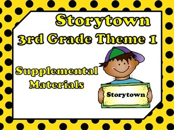 "Storytown 3rd Grade Theme 1 ""School Days"" Resources"