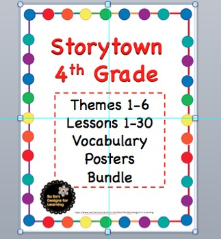 Storytown 4th Grade Robust Vocabulary Posters Themes 1-6 Bundle