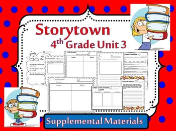 """Storytown 4th Grade Theme 3 """"Natural Changes"""" Resources"""