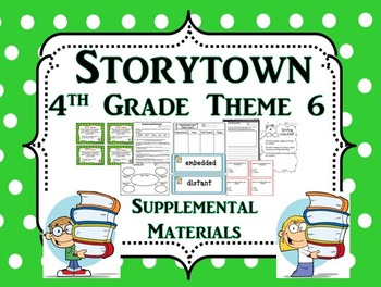 """Storytown 4th Grade Theme 6 """"Exploring Our World"""" Resources"""