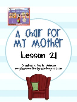 Storytown 2nd Grade Lesson 21:A Chair for My Mother Supplementals