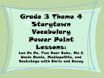 Storytown Grade 3 Theme 4 CCSS Aligned Vocabulary Power Po