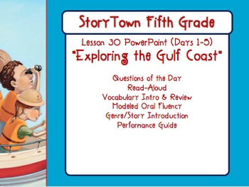 """Storytown Grade 5 Lesson 30 """"Exploring the Gulf Coast"""" Wee"""
