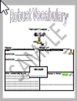 Storytown Lesson 20 Robust Vocabulary Graphic Organizer - No Prep