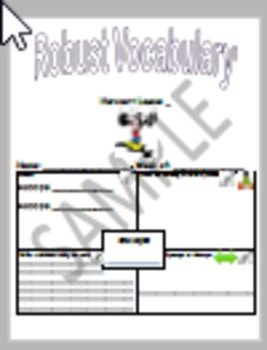 Storytown Lesson 8 Robust Vocabulary Graphic Organizer - No Prep