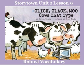 Storytown Lesson 9 Vocabulary Powerpoint- Grade 2