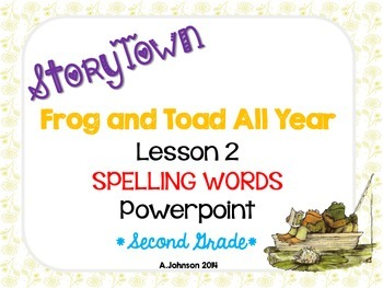 Storytown Spelling Words POWERPOINT Lesson 2: Frog and Toa