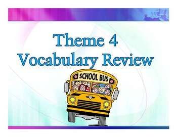 Storytown Theme 4 Power point Vocabulary Review-  Third Grade