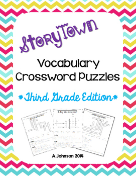 Storytown Vocabulary Crossword Puzzles {3RD GRADE}