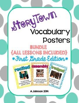 Storytown Vocabulary Posters BUNDLE {1st GRADE}