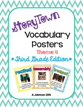 Storytown Vocabulary Posters Theme 4 {3RD GRADE}