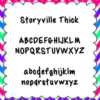 Storyville Thick Font {personal and commercial use; no lic