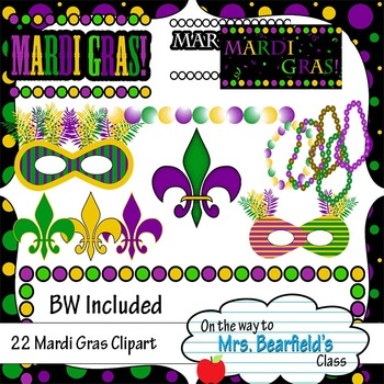 Straight from the Bayou - Mardi Gras Clipart - Black Line