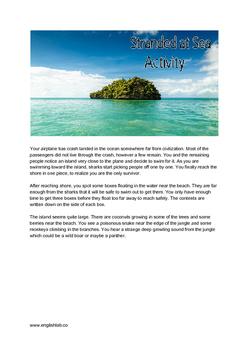 Stranded at Sea Survival Activity