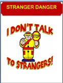 """Stranger Danger"" -lesson,maze,quiz,""What would you do"" activity"