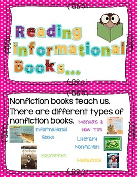 Strategeies for reading nonfiction