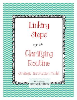 Strategic Instruction Model - Clarifying Table Linking Steps