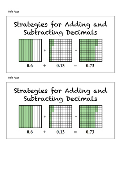 Strategies for Adding and Subtracting Decimals- ISN Foldable