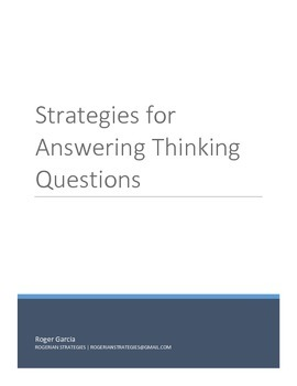 Strategies for Answering Thinking Questions