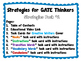 Strategies for GATE Thinkers - Pack 1 - Task Cards for Cre