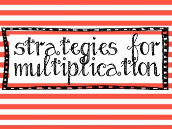 Strategies for Multiplication posters
