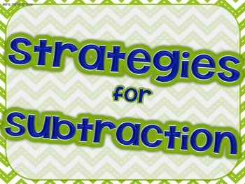 """""""Strategies for Subtraction"""" Posters"""