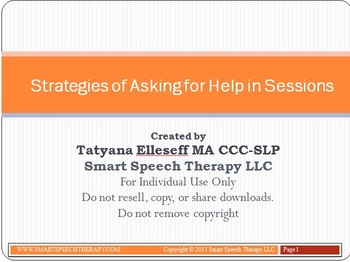 Strategies of Asking for Help in Sessions