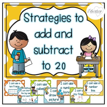 Strategies to Add and Subtract to 20 Posters