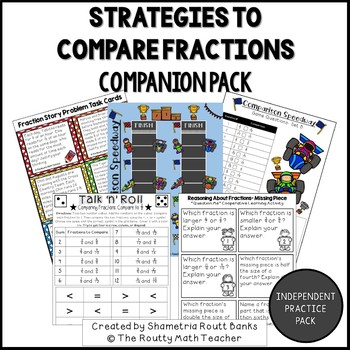 Strategies to Compare Fractions Companion Pack with Poster