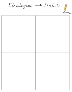 Strategies to Habits Writing Folder Page