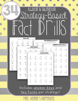 Strategy-Based Fact Drills