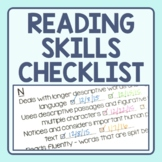 Reading Strategy Checklist - Guided Reading Level Skill Pr