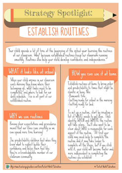 Strategy Spotlight: Establish Routines
