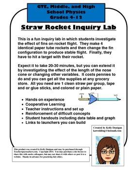 Straw Rocket Lab - Newton's Laws of Motion