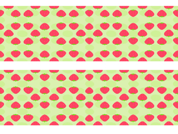 Strawberry Bulletin Board Border