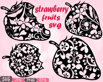 Strawberry Fruits fruit svg clipart health fitness teacher